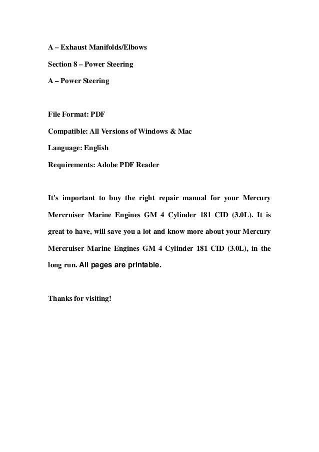 mercury mercruiser marine engines gm 4 cylinder 181 cid 30 l service repair workshop manual download 3 638?cb=1357820893 mercury mercruiser marine engines gm 4 cylinder 181 cid (3 0 l) servi,Ignition Wiring Diagram Gm Marine 181
