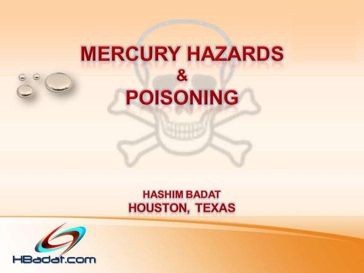 Mercury Hazards & Poisoning