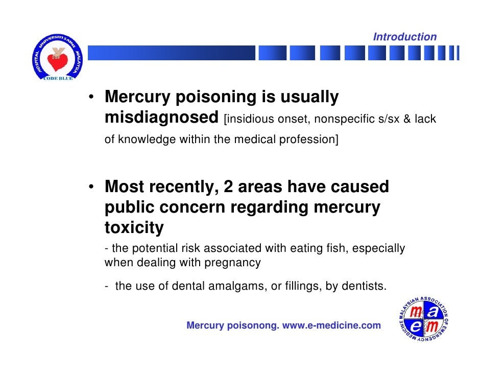 Mercury fish oils and the risk of myocardial infarction for Mercury poisoning fish