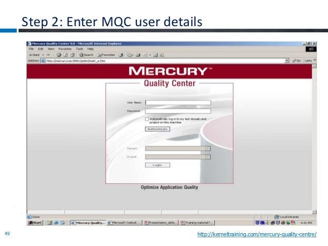 hp qc quality center getting started online training guide rh slideshare net HP Quality Center 11 HP Quality Center Explorer