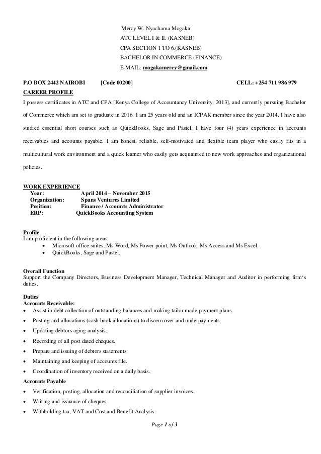 Mercy Mogaka Curriculum Vitae