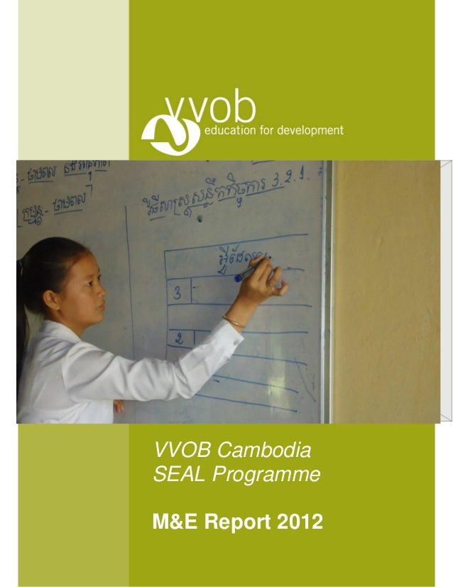 VVOB CambodiaSEAL ProgrammeM&E Report 2012