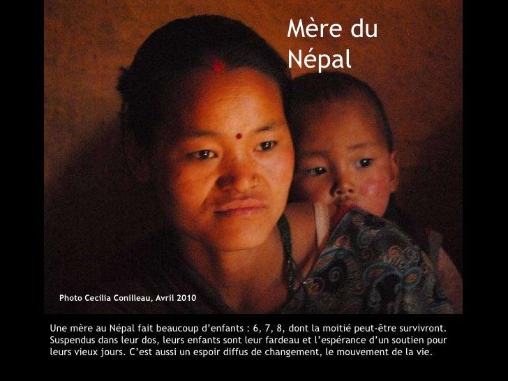 Mère du                                                     Népal  Photo Cecilia Conilleau, Avril 2010Une mère au Népal fa...