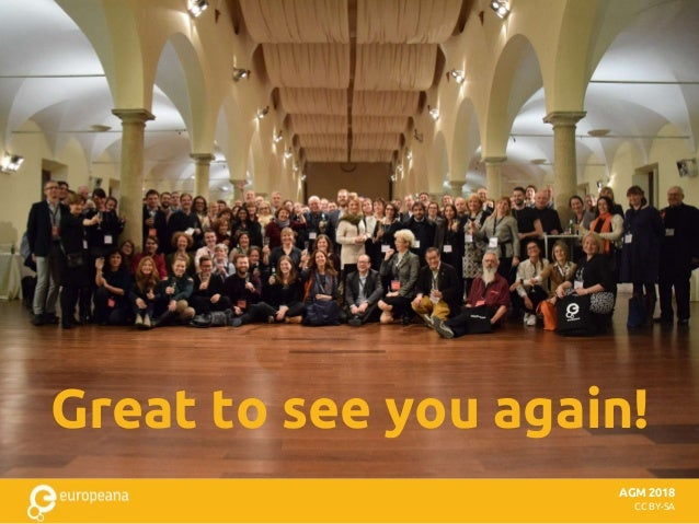 AGM 2018 CC BY-SA Great to see you again!