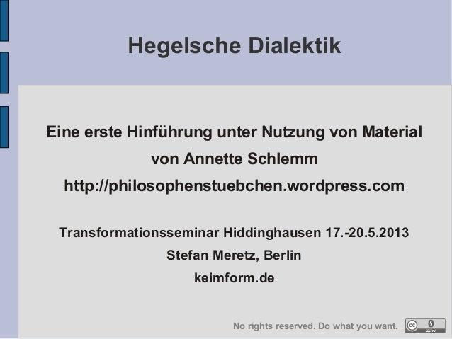 Eine erste Hinführung unter Nutzung von Material von Annette Schlemm http://philosophenstuebchen.wordpress.com Transformat...