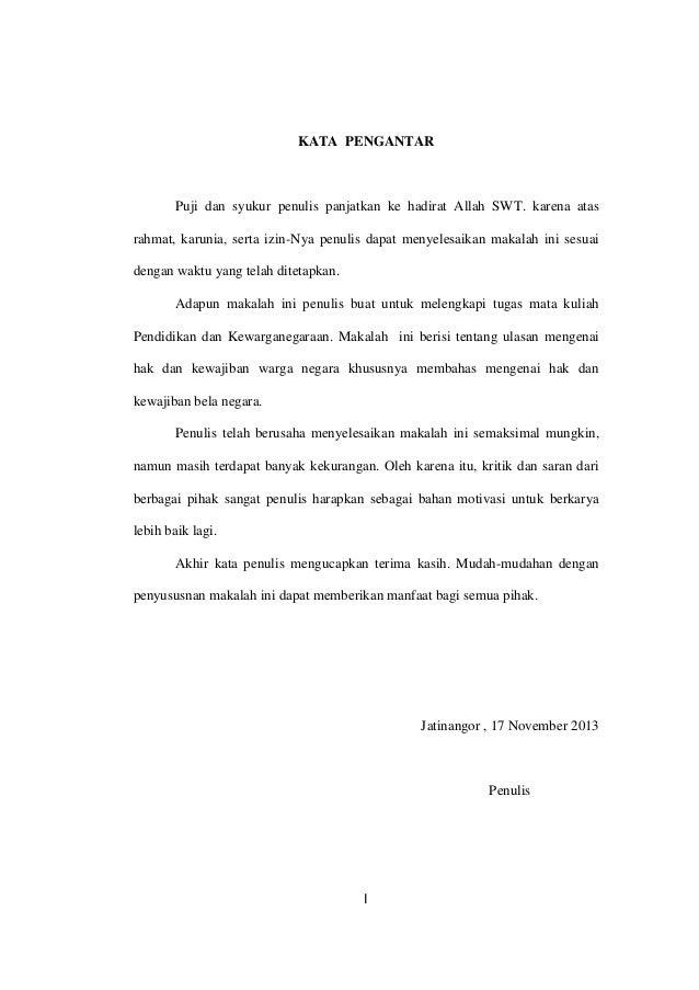 Makalah Hak Dan Kewajiban Bela Negara Pasal 27 Ayat 3