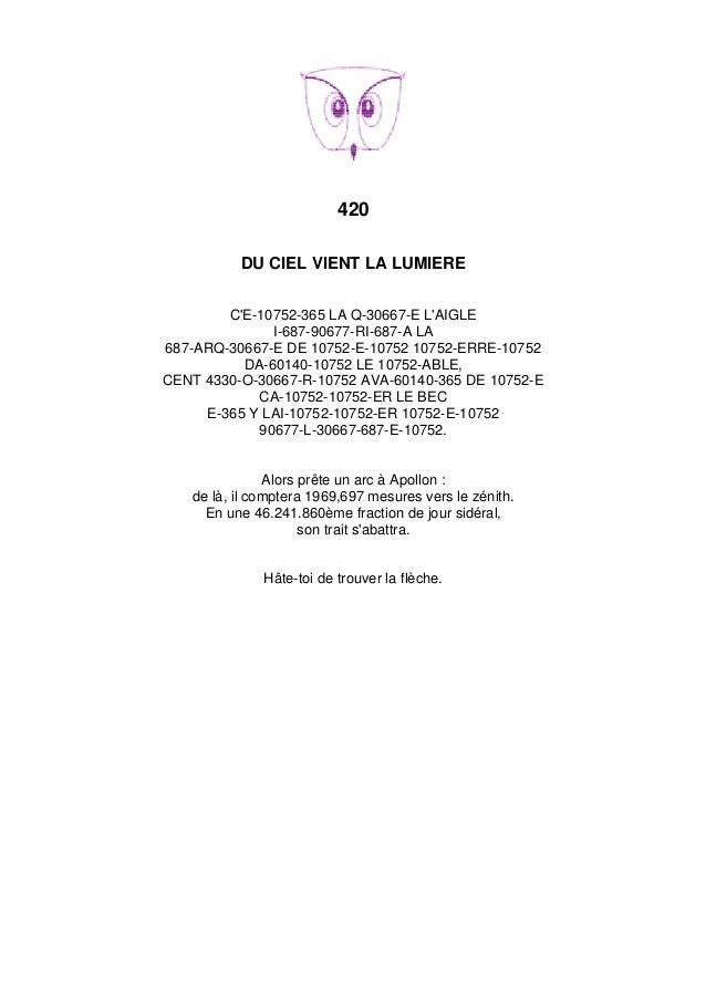 420 DU CIEL VIENT LA LUMIERE C'E-10752-365 LA Q-30667-E L'AIGLE I-687-90677-RI-687-A LA 687-ARQ-30667-E DE 10752-E-10752 1...