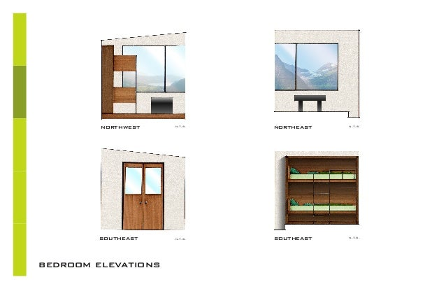 Academic portfolio for Dining room elevation