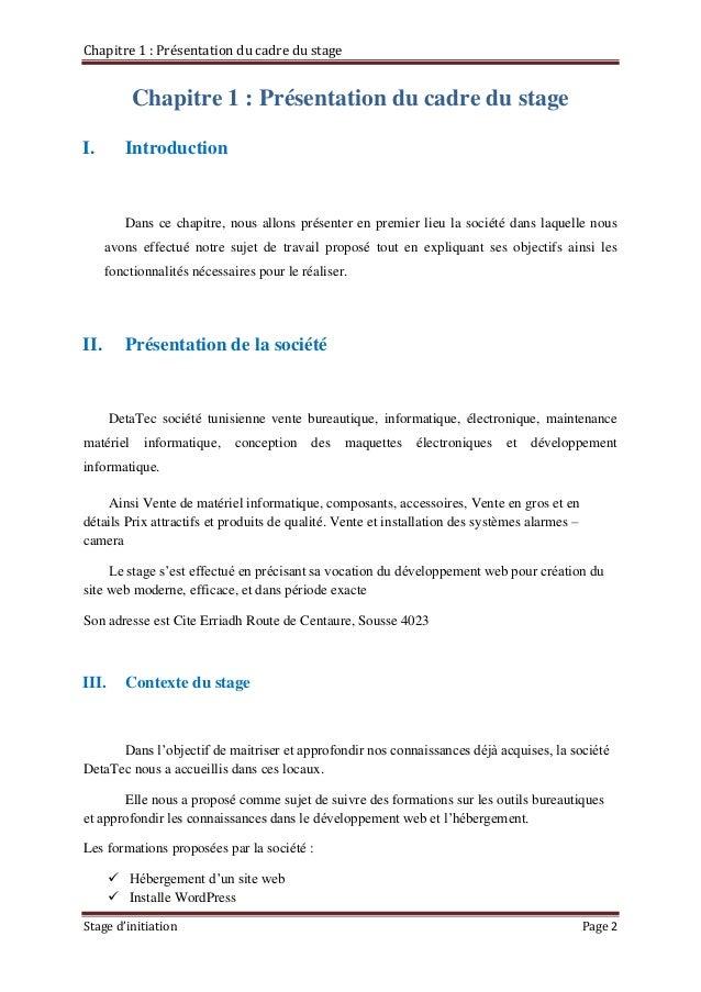 Rapport De Stage D Initiation 2015 Mahmoudi Mohamed Amine