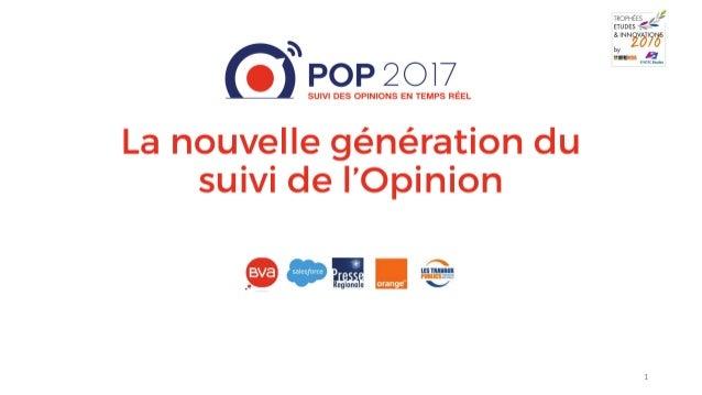 POP 2017 : la nouvelle génération de suivi de l'opinion par BVA - Trophée Or Social Listening par Offre Media