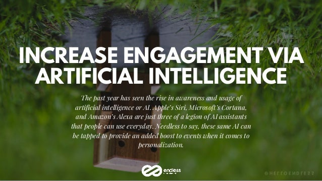 INCREASE ENGAGEMENT VIA ARTIFICIAL INTELLIGENCE The past year has seen the rise in awareness and usage of artificial intel...