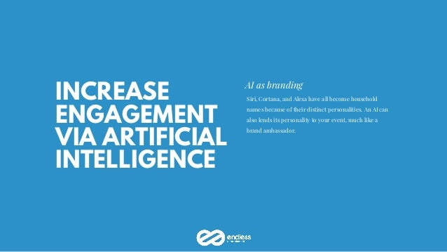 INCREASE ENGAGEMENT VIA ARTIFICIAL INTELLIGENCE AI as branding Siri, Cortana, and Alexa have all become household names be...
