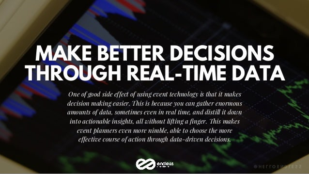MAKE BETTER DECISIONS THROUGH REAL-TIME DATA One of good side effect of using event technology is that it makes decision m...