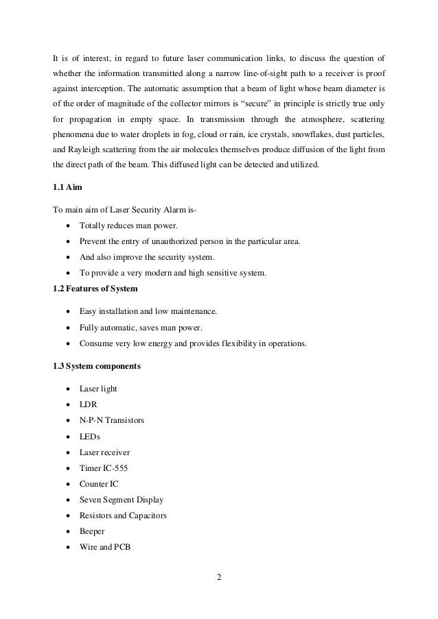 thesis on security alarm system 1 sample proposal for video surveillance systems – home and business - the following proposal reflects a basic 4 camera system with the following capabilities camera systems usually start with 1 camera, 1 monitor.