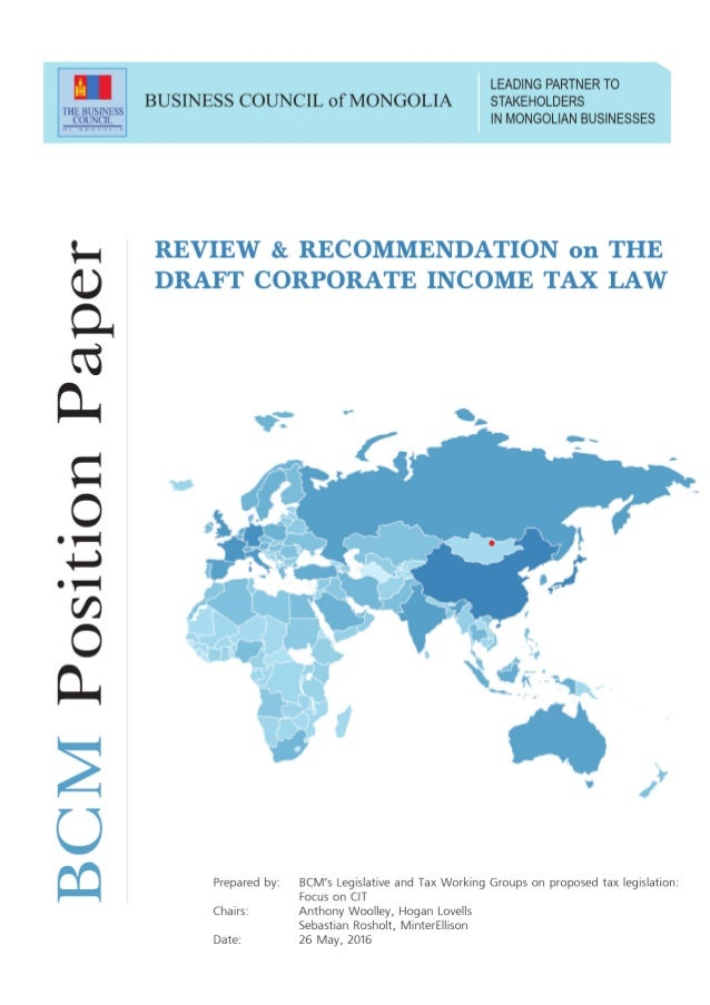 BCM REVIEW AND RECOMMENDATIONS ON THE DRAFT CORPORATE ...