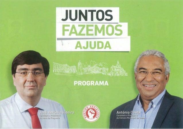 JUNTOS FAZEMOS AJUDA - PROGRAMA ELEITORAL