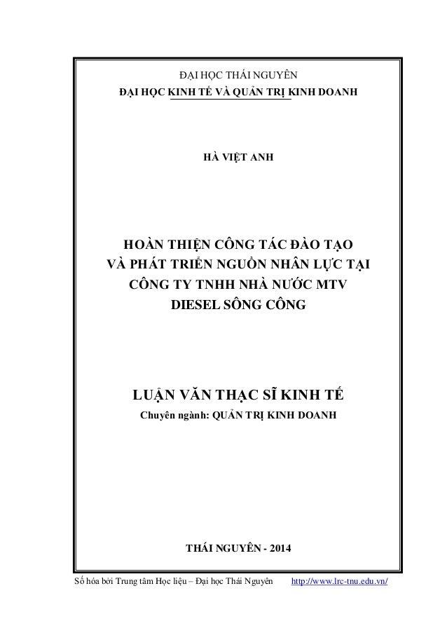 Số hóa bởi Trung tâm Học liệu – Đại học Thái Nguyên http://www.lrc-tnu.edu.vn/ 1 ĐẠI HỌC THÁI NGUYÊN ĐẠI HỌC KINH TẾ VÀ QU...