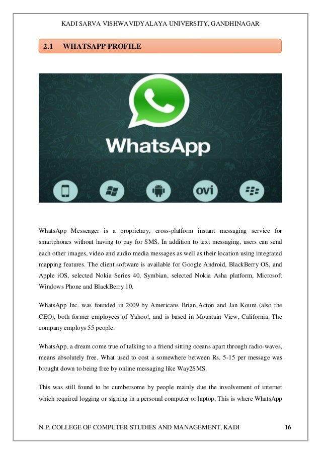 A comparative study on consumer preference between Whatsapp and Hike…