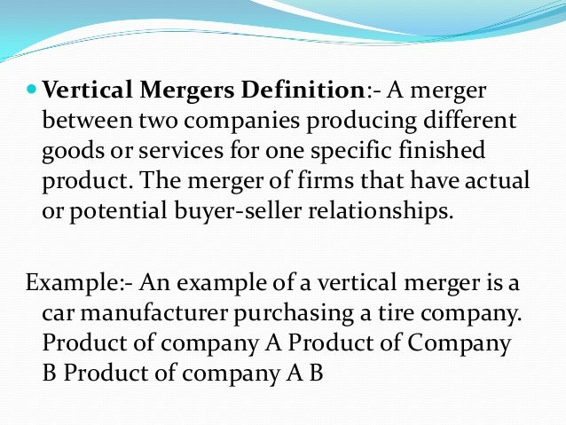 vertical merger example