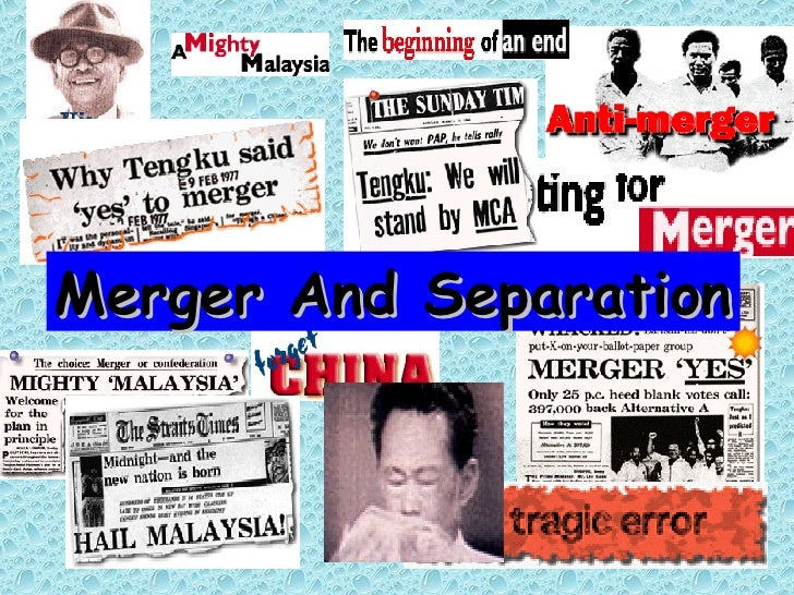 Merger And Separation
