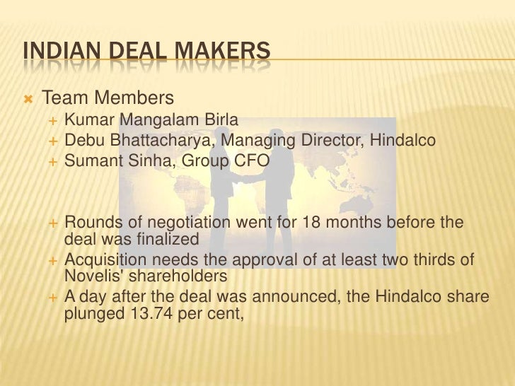 hindalco novelis merger Re atlanta, feb 11 /cnw/ -- hindalco industries ltd and novelis inc announce an agreement for hindalco's acquisition of novelis for approximately $60 billion.