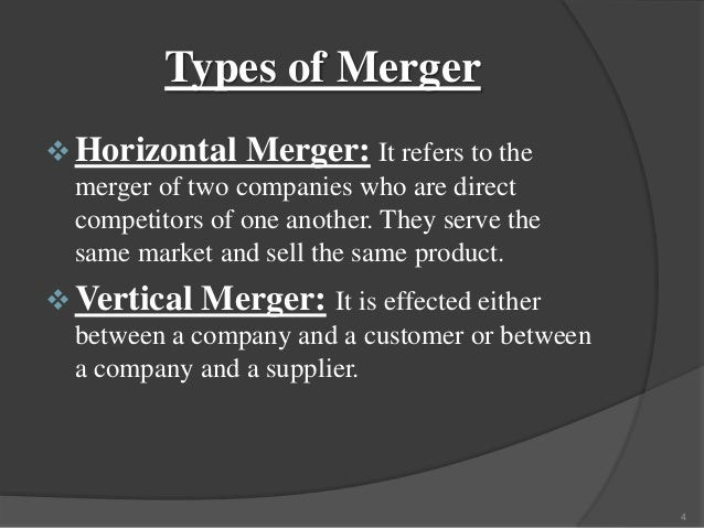 what are the differences among horizontal vertical and conglomerate mergers Horizontal integration is the merger of two firms at the same stage of production, producing the same product for example, the merger of two car producers or two tv companies there are two key motives behind horizontal integration one is to take greater advantage of economies of scale.