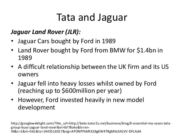 merger and acquisition tata motors Merger & acquisition of tata jaguar & land rover & demerger of hero honda merger & acquisition of tata jaguar & land rover mergers and acquisitions- tata motors.