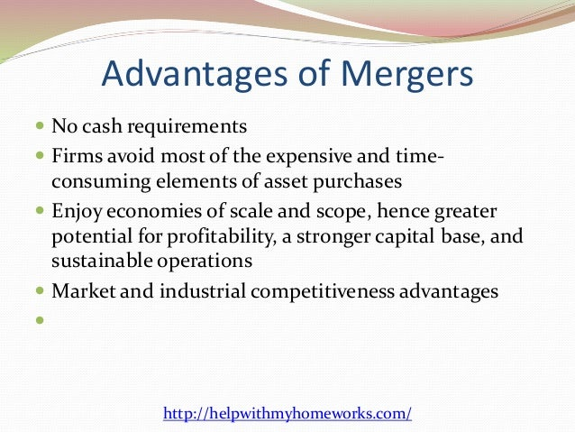 advantages and disadvantages for mergers and acquisition Market by creating synergies in the merger or acquisition and proposed methods  for  synergy search, their advantages and disadvantages.