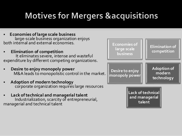 merger and acquisition case Mergers and acquisitions are part of strategic management in some rare cases, a merger or an acquisition is initialised due to managers personal incentives in.