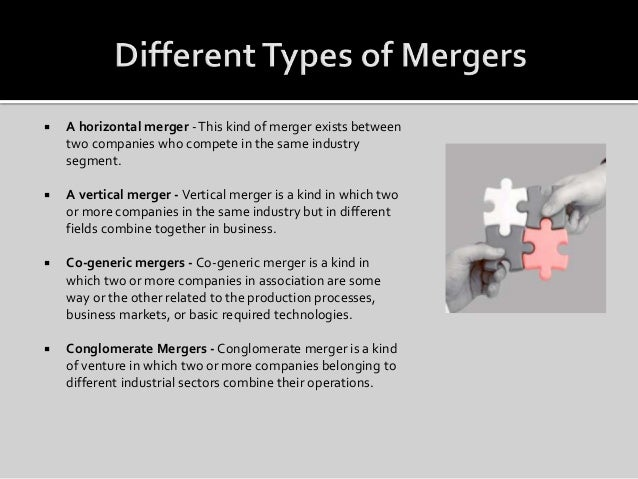 Horizontal vertical and conglomerate mergers