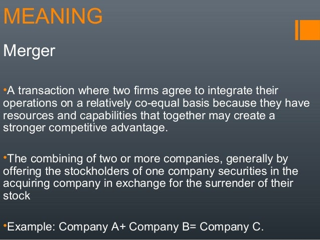 advantages of merging two companies