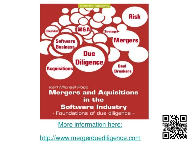 More information here:  http://www.mergerduediligence.com