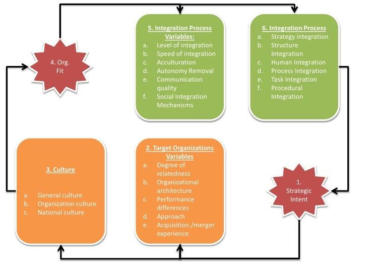 5. Integration Process Variables:<br />Level of integration<br />Speed of integration<br />Acculturation<br />Autonomy Rem...