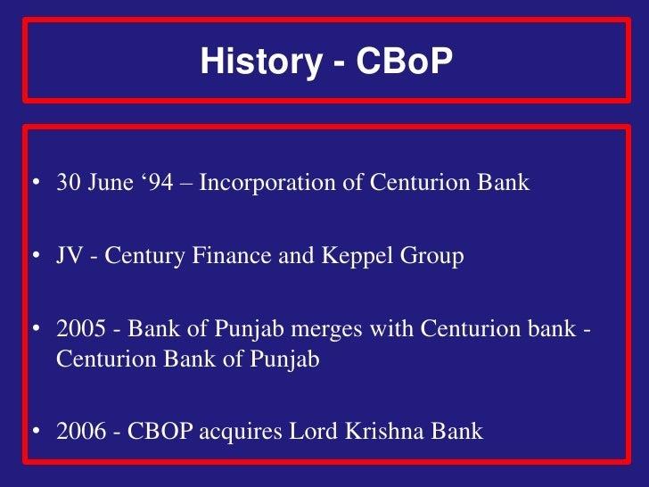 centurion bank Merger of c bo p and hdfc