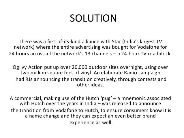 benefits of vodafone and hutch merger Under the agreement, both vodafone and hutch,  other benefits of the deal include economies of scale across procurement, product development, it,.