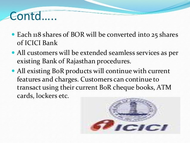 merger of icici and icici bank View amit chugh's profile on linkedin,  headed the balance sheet function at (pre-merger) icici bank, irs (indian rates, ois and mifor) and money market trader.