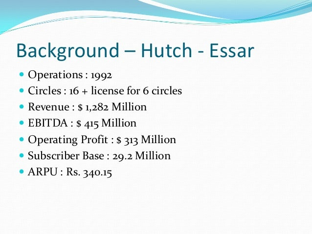 reasons for hutch vodafone merger