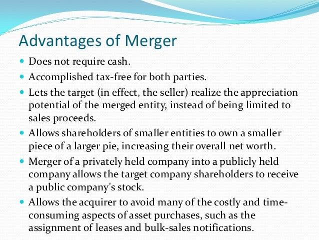 disadvantages of merging businesses