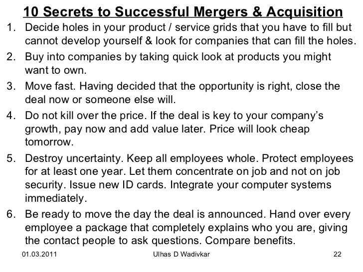 Mergers acquisitions for mba wadivkar 22 10 secrets to successful mergers acquisition fandeluxe Gallery