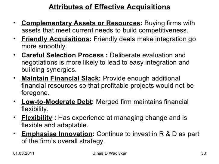 Mergers acquisitions for mba wadivkar 33 attributes of effective acquisitions fandeluxe Gallery