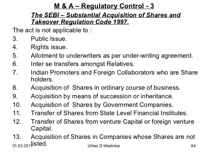 Mergers acquisitions for mba wadivkar 64 fandeluxe Gallery