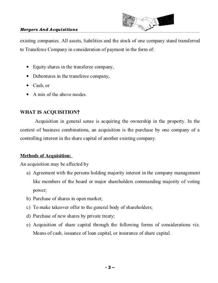 Mergers & acquisitions Slide 3