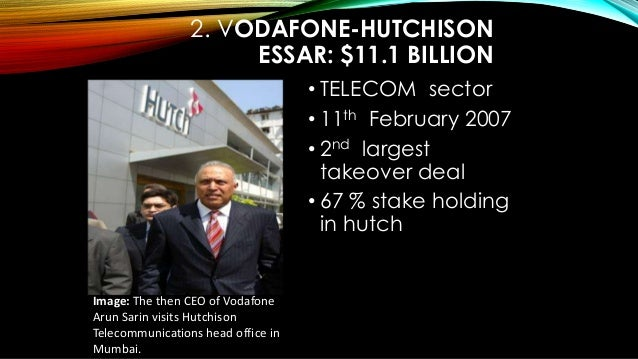 Hutch vodafone takeover