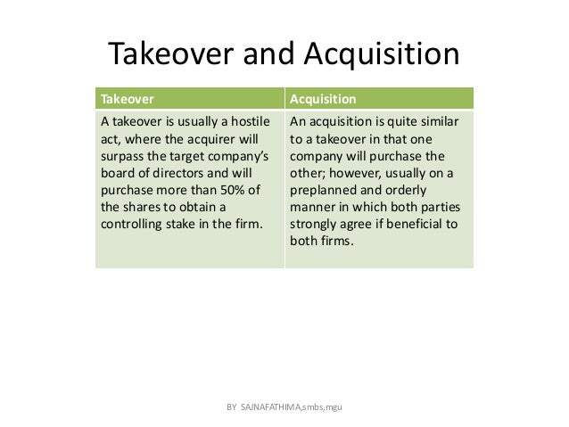 "takeover mergers acquisitions The panel on takeovers and mergers (the ""panel"") is the body which  uk  offeror company was often established to effect the acquisition in."