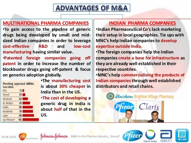 mergers and acquisitions in pharmaceutical industry In the pharmaceutical industry, large mergers generally increase research and development productivity and boost the number of new drugs in the pipeline.