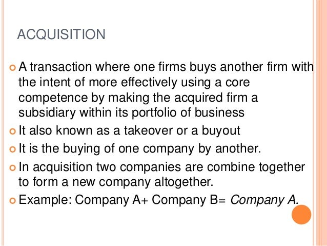 Mergers and acquisitions Slide 3