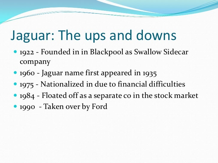 Mergers And Acquisitions Tata Motors And Jaguar