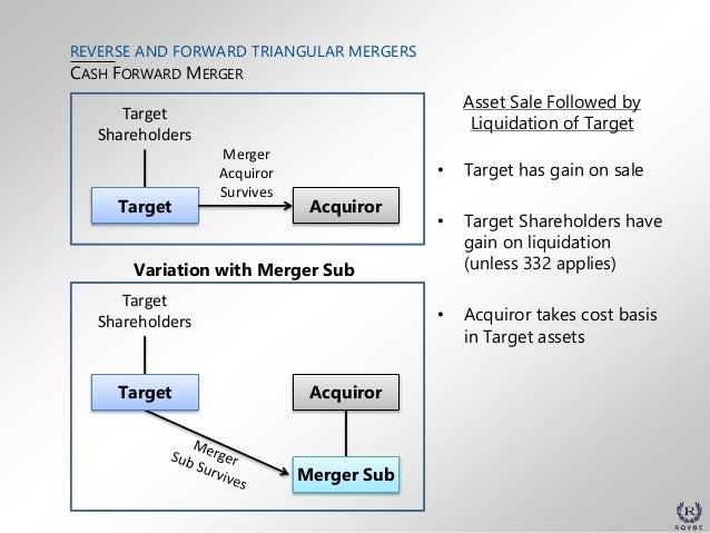 Reverse and Forward Triangular Mergers