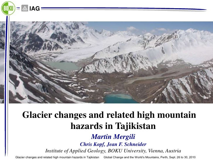 IAG     Glacier changes and related high mountain                hazards in Tajikistan                                    ...