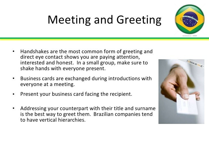 Doing business in brazil 9 meeting and greeting m4hsunfo